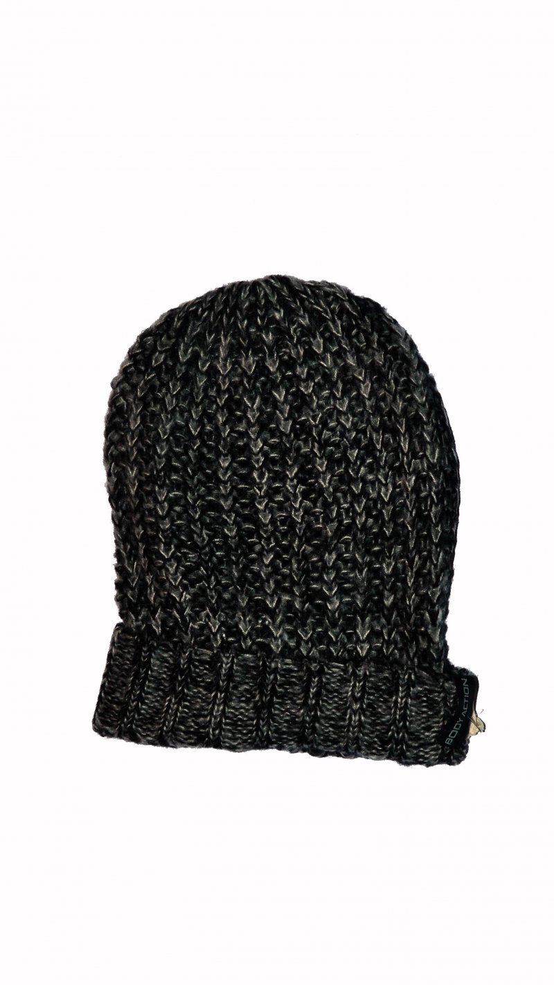 BODY ACTION 095515-D.ΜΕL.GRΕΥ SLOUNCHY BEANIE HAT